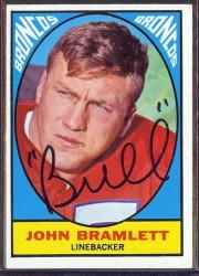 autographed 1967 topps john bramlett