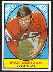 autographed 1967 topps max leetzow