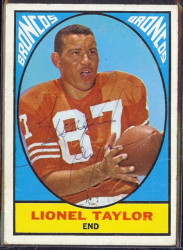 autographed 1967 topps lionel taylor