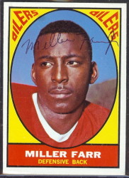 autographed 1967 topps miller farr