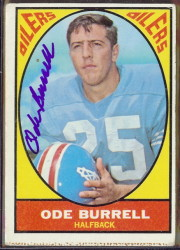 autographed 1967 topps ode burrell