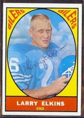 autographed 1967 topps larry elkins