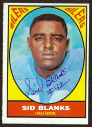 autographed 1967 topps sid blanks