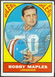 autographed 1967 topps bobby maples