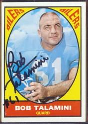 autographed 1967 topps bob talamini