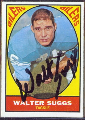 autographed 1967 topps walt suggs