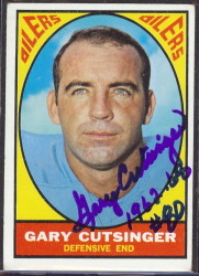 autographed 1967 topps gary cutsinger