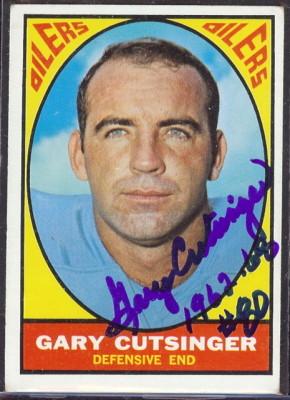 autographed 1967 topps gary cutsinger