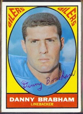 autographed 1967 topps danny brabham