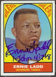 autographed 1967 topps ernie ladd