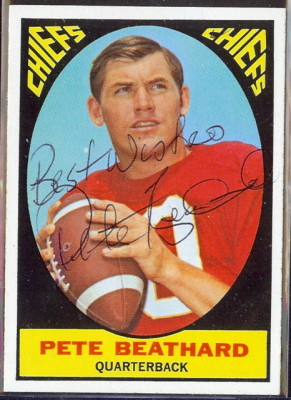 autographed 1967 topps pete beathard