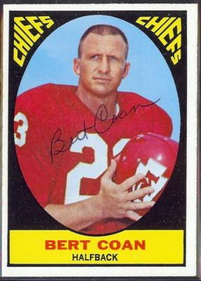 autographed 1967 topps bert coan