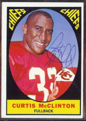 autographed 1967 topps curtis mcclinton