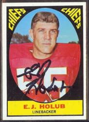 autographed 1967 topps ej holub