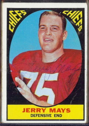 autographed 1967 topps jerry mays