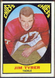 autographed 1967 topps jim tyrer