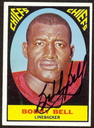 autographed 1967 topps bobby bell
