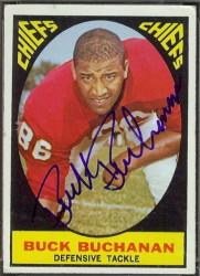 autographed 1967 topps buck buchanan