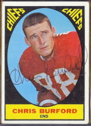 autographed 1967 topps chris burford