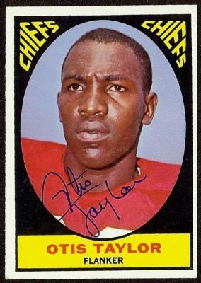 autographed 1967 topps otis taylor