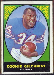 autographed 1967 topps cookie gilchrist