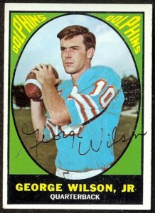 autographed 1967 topps george wilson