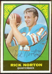 autographed 1967 topps rick norton
