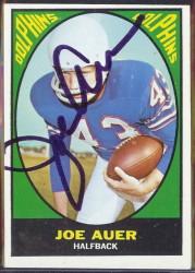 autographed 1967 topps joe auer