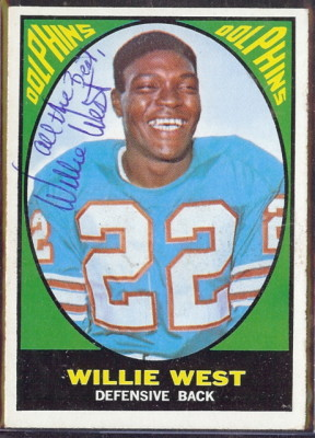 autographed 1967 topps willie west