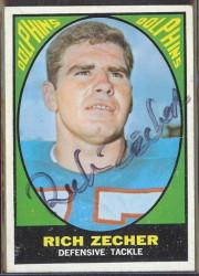 autographed 1967 topps rich zecher