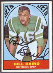 autographed 1967 topps bill baird