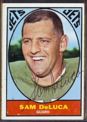 autographed 1967 topps sam deluca