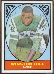 autographed 1967 topps winston hill