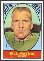 autographed 1967 topps bill mathis