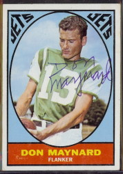 autographed 1967 topps don maynard