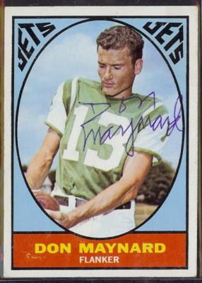 autographed 1967 topps don maynard