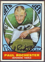 autographed 1967 topps paul rochester