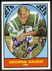 autographed 1967 topps george sauer