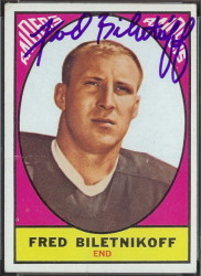 autographed 1967 topps fred biletnikoff