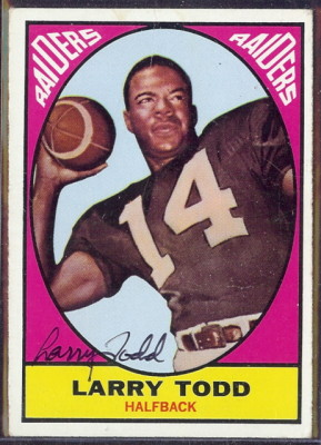 autographed 1967 topps larry todd