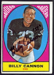 autographed 1967 topps billy cannon