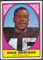 autographed 1967 topps dave grayson
