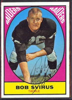 autographed 1967 topps bob svihus
