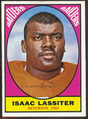 autographed 1967 topps isaac lassiter