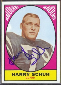 autographed 1967 topps harry schuh