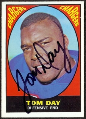 autographed 1967 topps tom day