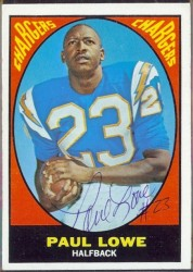 autographed 1967 topps paul lowe