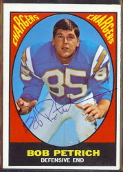 autographed 1967 topps bob petrich