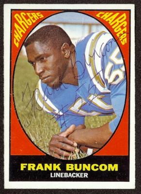 autographed 1967 topps frank buncom