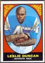 autographed 1967 topps leslie duncan